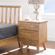 NB-Natural-NS  2-Drawer Nightstand