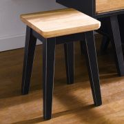 NB-Blue-ST  Wood Stool