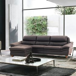 M8006-Brown  4-Seater Leather Sofa