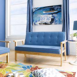 BLUE-1902-Fabric  2-Seater Sofa