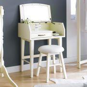 TP-638-White  Vanity & Stool