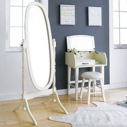 TP-602-White Oval Mirror