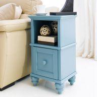 Y3659-02B-Blue  Side Table