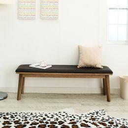 Zodax-6-Walnut-LB  Long Wooden Bench
