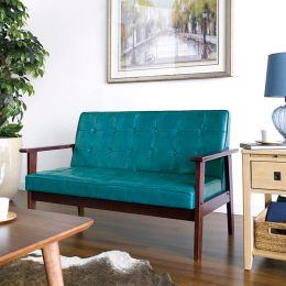 DT-1902-Blue-PU  2-Seater Sofa