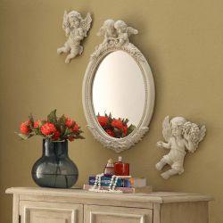 Angel  Wall Mirror w/ 2-Angel
