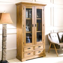 Nimes-Brown Glass Cabinet