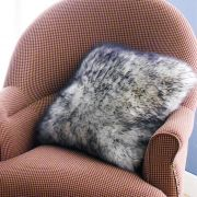 Mary Sheepskin-W/B Accent Pillow