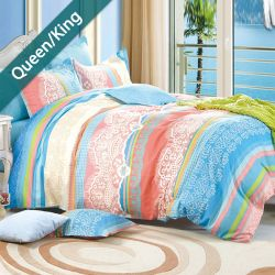 RYT608  Queen/King Comforter ~100% Cotton~ (솜이불+베개커버 2개)(Size: 213 cm x 230 cm)