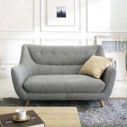 Midas-Grey  2-Seater Sofa