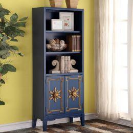 Blue-2-Door  Bookcase