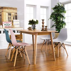 Nagano-4C  Dining Set  (1 Table + 4 Chairs)