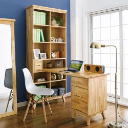 NB-Natural-HDB  Desk w/ Bookcase