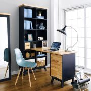 NB-Blue-HDB Desk w/ Bookcase