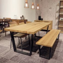 Calia-6  Dining Set  (1 Table + 3 Chairs + 1 Bench)