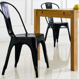 M-503-BLACK  Metal Chair