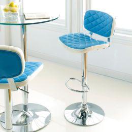 59791-Turquoise  Ajustable Bar Stool