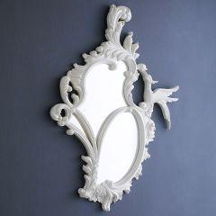 Phoenix-White Decorative Mirror