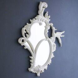 Phoenix–White  Wall Mirror