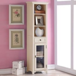 9048-Cream  Bookcase