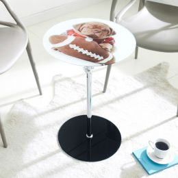 7036   Glass Round Table