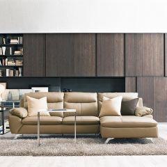 MU-10282-Nude  4-S Leather Sofa w/ Chaise