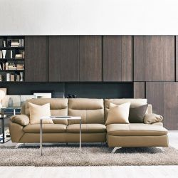 MU-10282-Nude  4-S Leather Sofa w/ Chaise