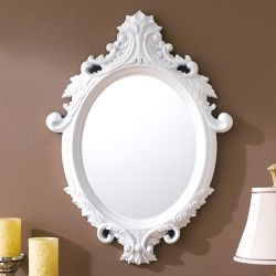 KT076-Mat White  Wall Mirror