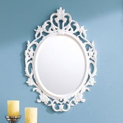 KT034-Mat White  Wall Mirror