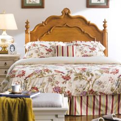 Lily-Brown-HB Queen Panel Bed