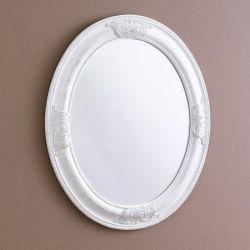 Livia-White  Oval Wall Mirror