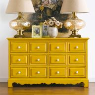 Octavia-Yellow  Antique Dresser
