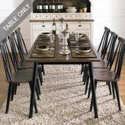 Julie-Black-6-D  Dining Table  (Table Only)