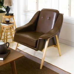 Camello-Coffee  Single Chair