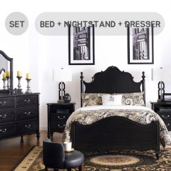 Perris  King Panel Bed  (침대+협탁+화장대+거울)