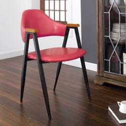 Arch Back-Tan  Metal Chair