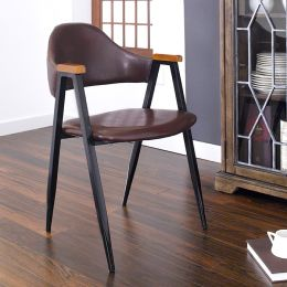 Arch Back-Brown  Metal Chair