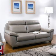 M8019  Leather-Look Sofa