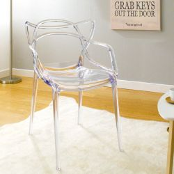 PC-601B-Clear Clear  Chair
