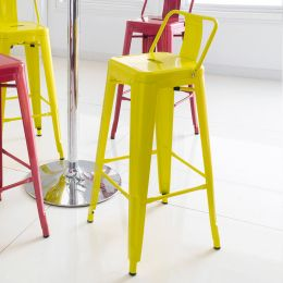 M-504D-Yellow  Metal Bar Chair