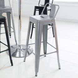 M-504D-Grey Metal Bar Chair