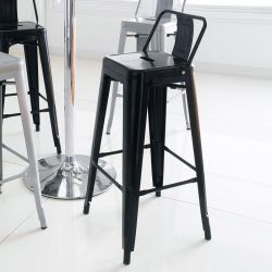 M-504D-Black  Metal Bar Chair