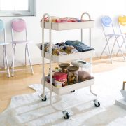 ST25346-C-Cream White  Storage Cart