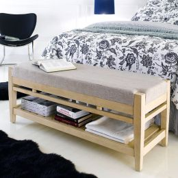 B3505-80  Wooden Bed Bench