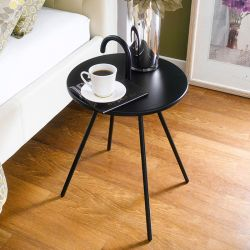 Bibione-Black  Tray Table