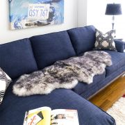 Alba Rug-White/Black  Sheepskin