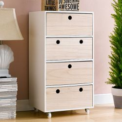 Ricky-White  4-Drawer Chest