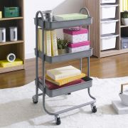 ST25346-C-Metallic Gray  Storage Cart
