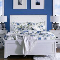 B4124-64  King Panel Bed