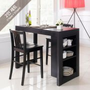 D390-2-Black-2C  Island Dining Set
